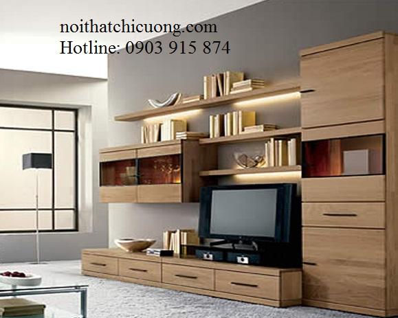 Nội Thất Phòng Khách - Kệ TiVi Xoan Đào - 052