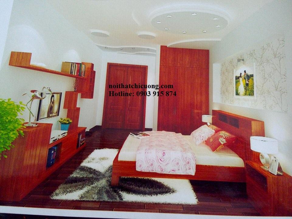 Nội Thất Phòng Ngủ - Giường Ngủ Gỗ Đỏ - 123