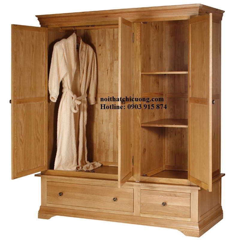 Nội Thất Phòng Ngủ - Tủ Quần Áo Cánh Mở - 058