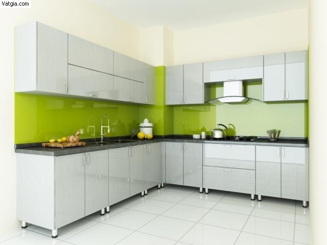 Tủ Bếp Dạng Chữ L Cho Phòng Bếp Gia Đình - Gỗ Công Nghiệp -051