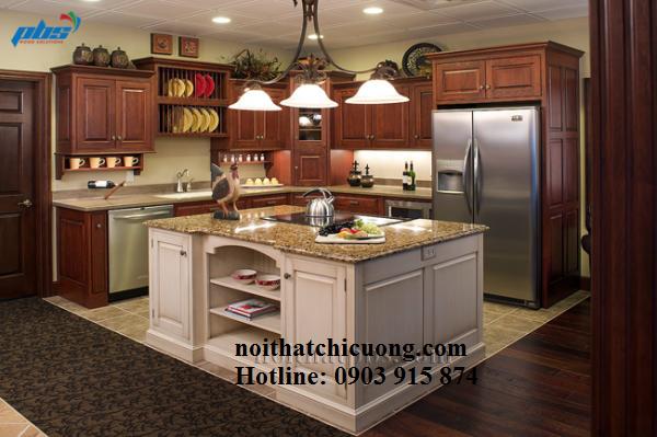 Nội Thất Phòng Bếp - Tủ Bếp Có Bàn Đảo - 043