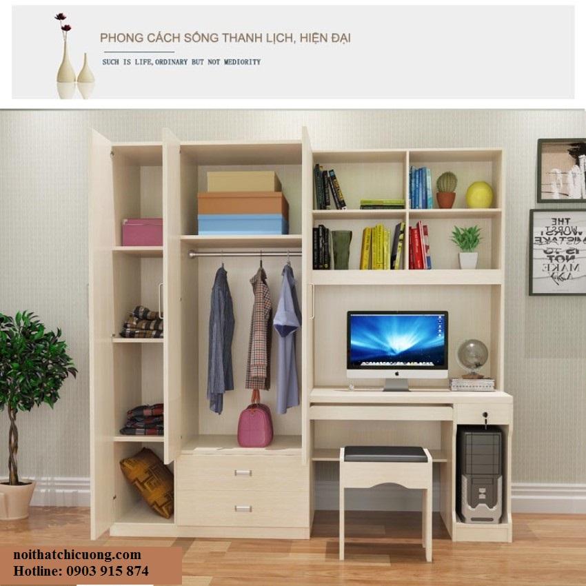 Nội Thất Phòng Khách - Tủ Sách Gỗ  - 012