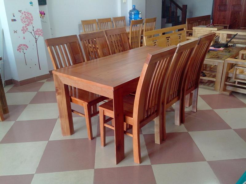Bộ Bàn Ăn Phòng Bếp - Gỗ Căm Xe Tự Nhiên -019