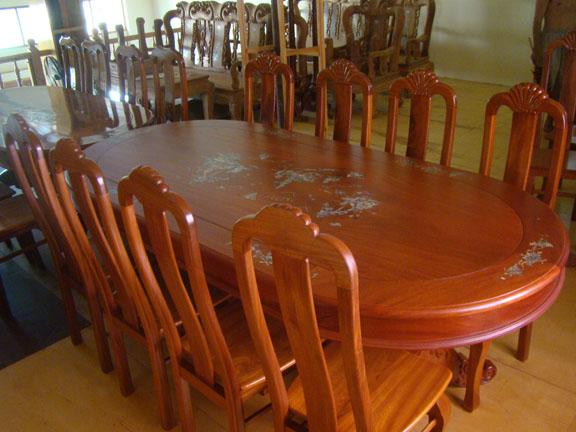 Bộ Bàn Ăn Phòng Bếp - Gỗ Cẩm Lai Sang Trọng -037