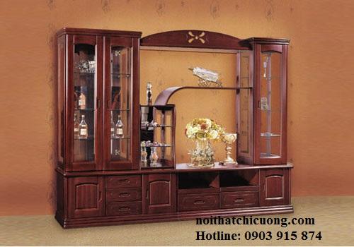 Tủ Rượu Cho Ngôi Nhà Thêm Đẹp - Gỗ Xoan Đào -010