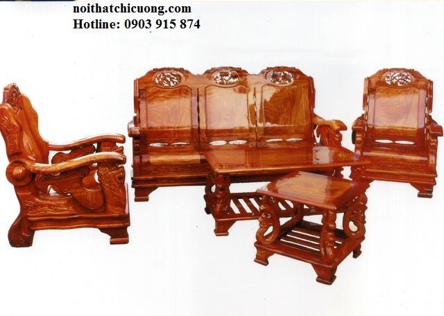 Bàn Ghế Phòng Khách Sang Trọng Cho Gia Đình Bằng Gỗ Gỏ Đỏ-104