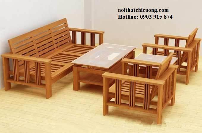 Bàn Ghế Phòng Khách Đẹp - Gỗ Xoan Đào Cổ Điển-108