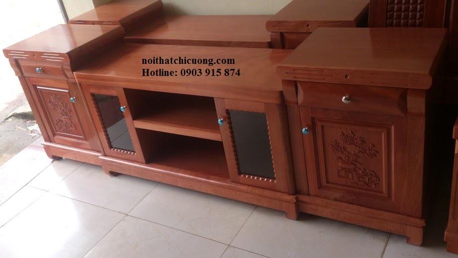 Kệ Tivi Phòng Khách - Gỗ Xoan Đào Bền Đẹp -011