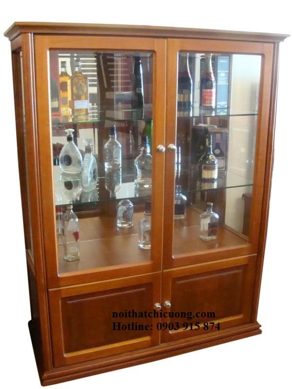 Tủ Rượu Phòng Khách - Gỗ Xoan Đào Bền Đẹp -011