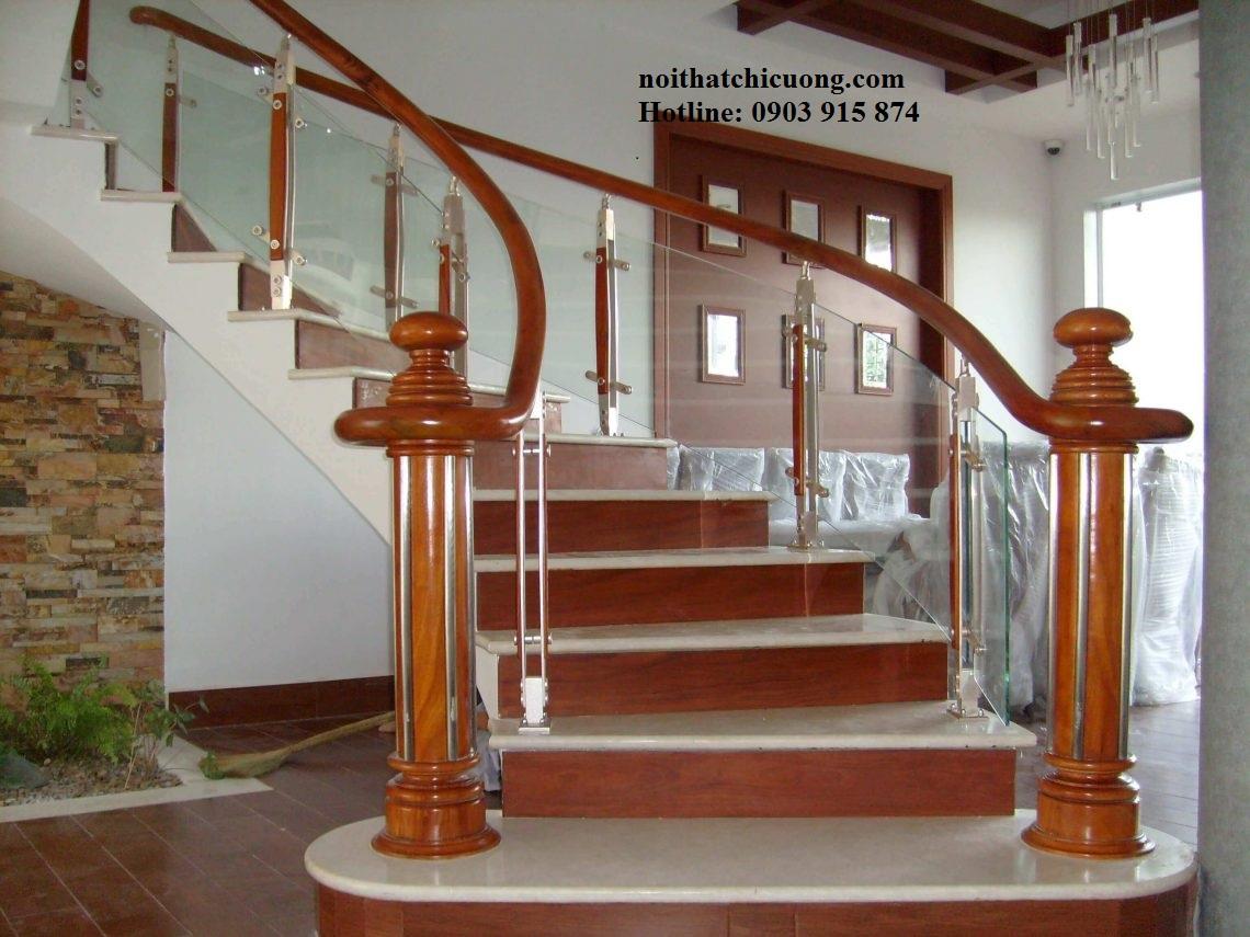 Cầu Thang Đẹp Cho Nhà Phố - Gỗ Tự Nhiên - 120