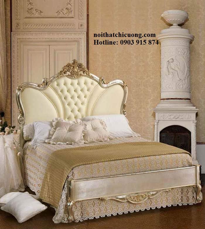 Nội Thất Phòng Ngủ - Giường Ngủ Sơn Trắng - 138