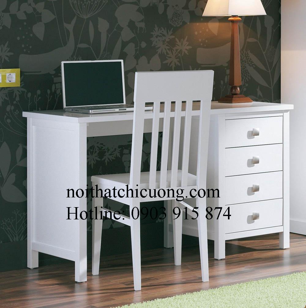 Nội Thất Phòng Ngủ- Bàn Trang Điểm Sơn Trắng -052