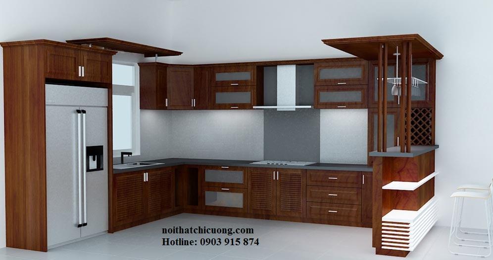 Nội Thất Phòng Bếp - Tủ Bếp Chữ L - 122