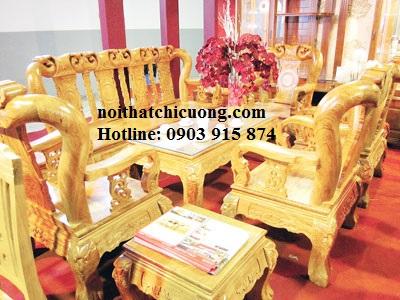 Bàn Ghế Gỗ Huỳnh Đàng Cho Phòng Khách Hiện Đại -028