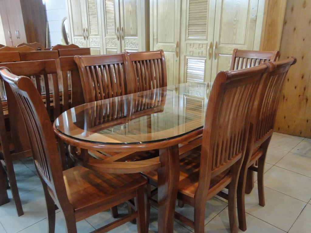 Bộ Bàn Ăn Phòng Bếp - Gỗ Căm Xe Sang Trọng -020