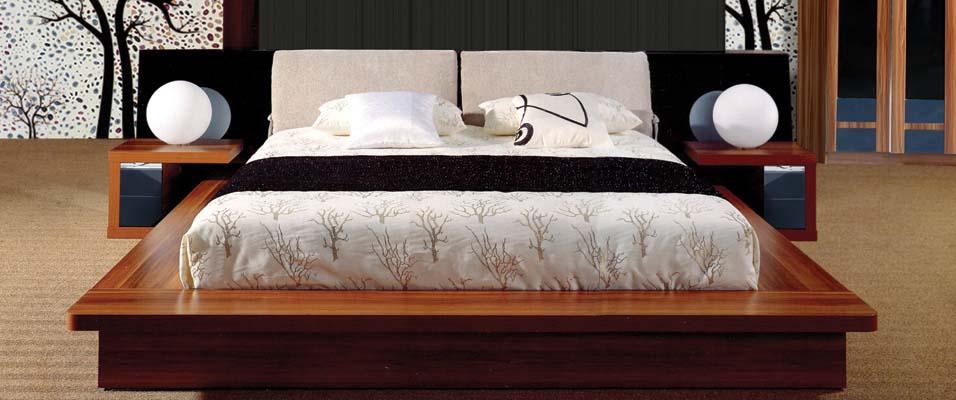 Giường Ngủ Kiểu Nhật - Gỗ Căm Xe Cao Cấp -046