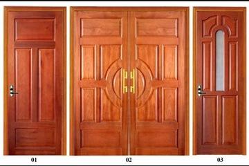 Cửa, Khung Cửa Đẹp Cho Nhà Phố - Gỗ Xoan Đào Hiện Đại- 076