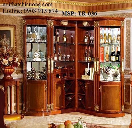 Nội Thất Phòng Khách-  Tủ Rượu Căm Xe -036