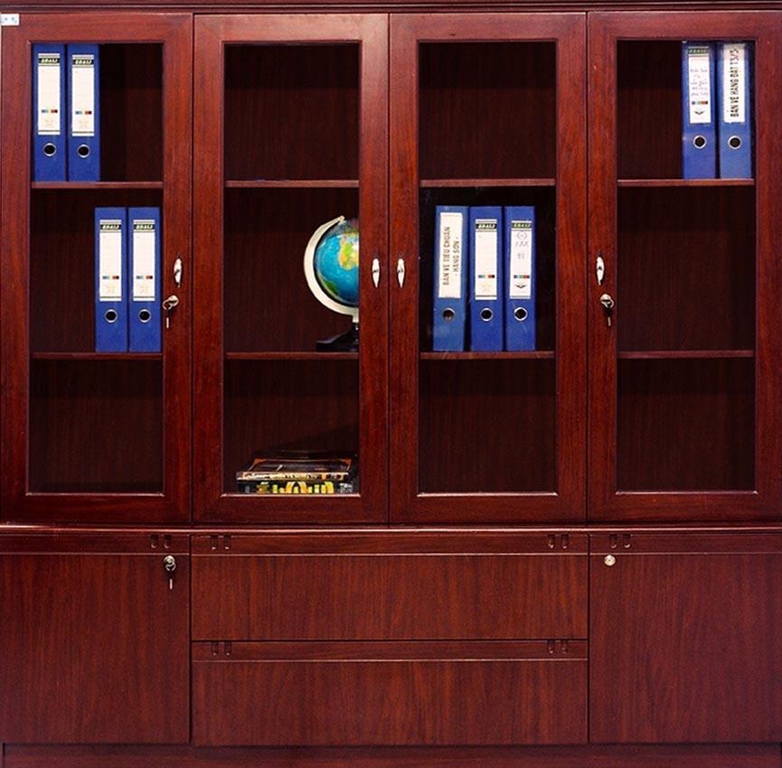 Tủ Hồ Sơ Cho Văn Phòng - Gỗ Căm Xe Chất Lượng -003