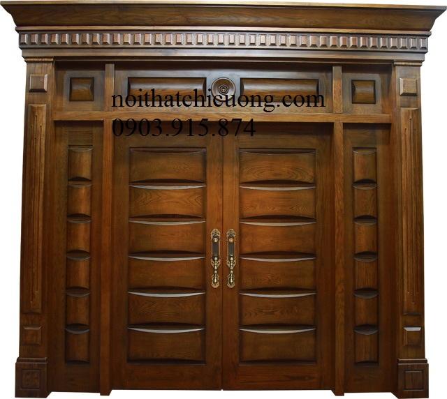 Cửa Cổng Gỗ Cổ Điển 856