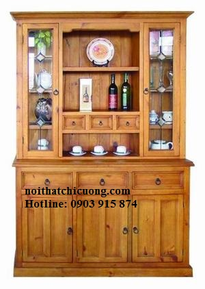 Tủ Rượu Cho Nhà Phố Đẹp - Gỗ Xoan Đào -004