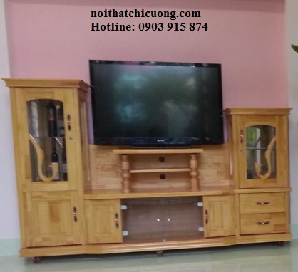 Kệ Tivi phòng khách - Gỗ Sồi đẹp tự nhiên-040