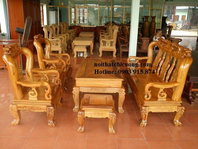 Bàn Ghế Phòng Khách - Gỗ Huỳnh Đàng Hiện Đại -041
