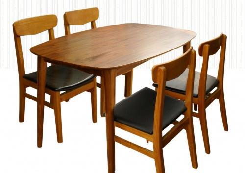 Bộ Bàn Ăn Phòng Bếp Đơn Giản - Gỗ Xoan Đào -043