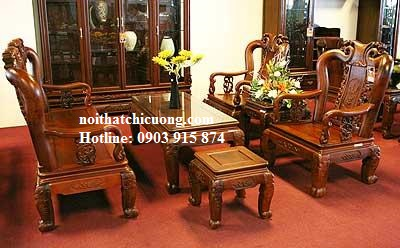 Nội Thất Bàn Ghế Phòng Khách - Gỗ Xoan Đào Đẹp Tự Nhiên -061