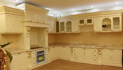 Tủ Bếp Cổ Điển Châu Âu Cho Nhà Phố - Gỗ Sồi Cao Cấp-027
