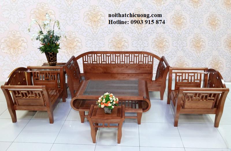 Bàn Ghế Phòng Khách Gia Đình - Gỗ Huỳnh Đàng Đơn Giản -071