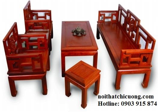 Bàn Ghế Đẹp Cho Phòng Khách Gia Đình - Gỗ Cẩm Lai -072