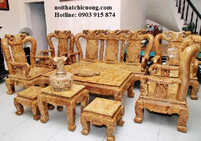 Bàn Ghế Đẹp Cho Phòng Khách - Gỗ Cẩm Lai Sang Trọng -076