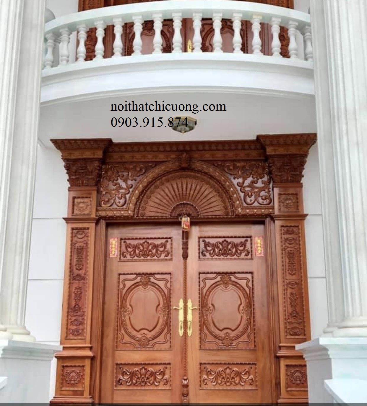 Cửa Cổng Gỗ Cổ Điển 854
