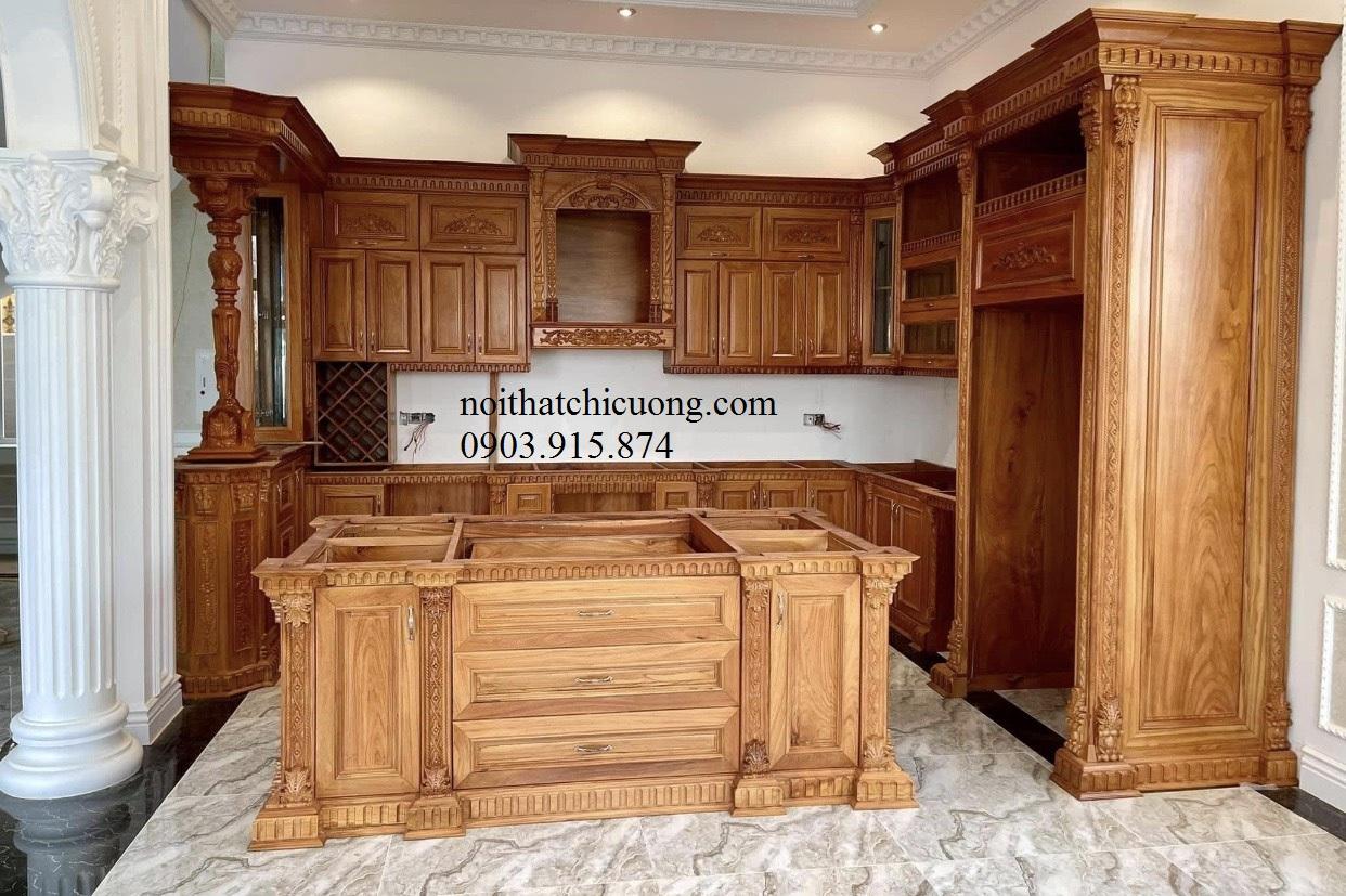Tủ bếp chữ U hiện đại 409