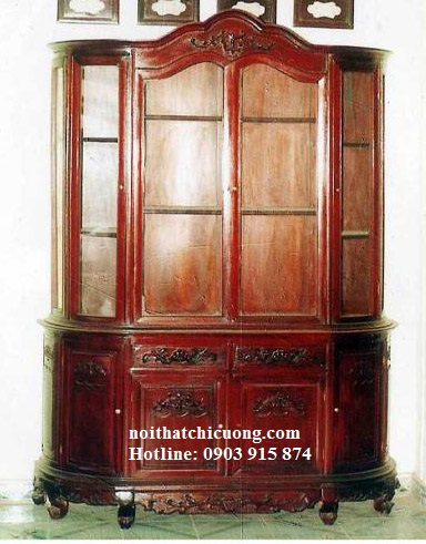 Tủ Rượu Đẹp Cho Phòng Khách Gia Đình - Gỗ Căm Xe -009