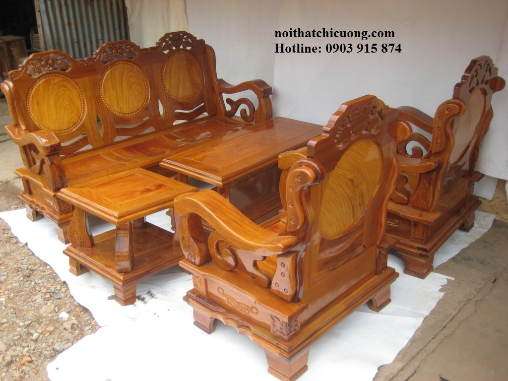 Bàn Ghế Đẹp Cho Nhà Xinh - Gỗ Gỏ Đỏ Cố Điển -091
