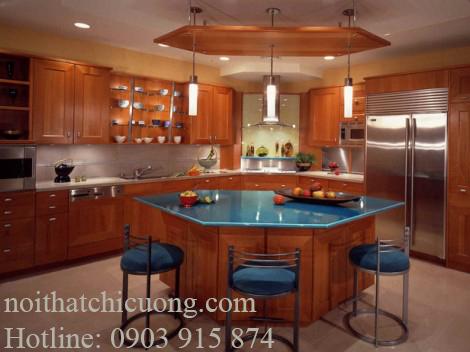 Nội Thất Phòng Bếp-Tủ Bếp Có Bàn Đảo-035