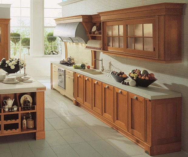 Tủ Bếp Có Bàn Đảo Nhà Phố - Gỗ Cẩm Lai Đẹp -026