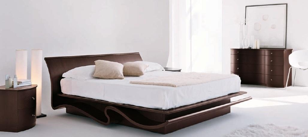 Giường Ngủ Kiểu Nhật Bằng Gỗ Căm Xe Hiện Đại -048