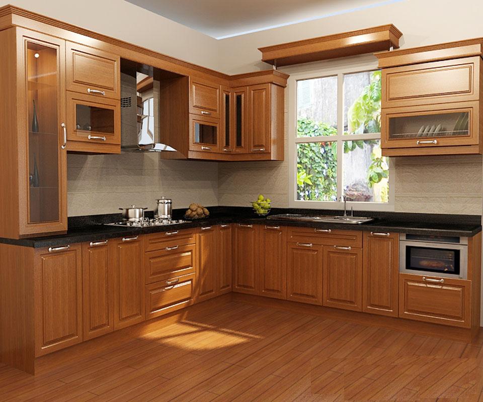 Tủ Bếp Cổ Điển Châu Âu Đẹp Cổ Điển - Gỗ Cẩm Lai -017