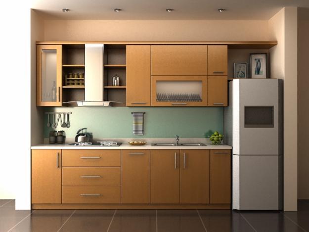 Tủ Bếp Dạng Chữ I  Đẹp Cho Nhà Phố - Gỗ Công Nghiệp -025